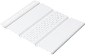 Софит (панель) пластиковый ПВХ для крыши 300.Н.003, 1x300x3000мм, перфорированный частично, белая