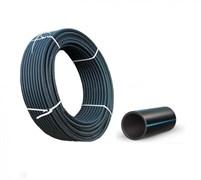 Труба водопроводная питьевая, диаметр 40мм, ПЭ-100 полиэтилен низкого давления ПНД, черная, бухта 100м, на метраж