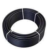 Труба ПНД, техническая, диаметр 25мм, полиэтилен низкого давления, черная, бухта 100м, на метраж