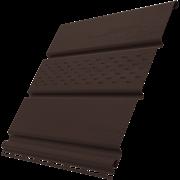 Софит (панель) пластиковый ПВХ для крыши 300.Н.497С, 1x300x3000мм, перфорированный частично, коричневый