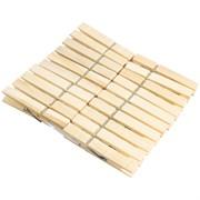 Прищепки бельевые деревянные, 7.2x1.3мм, набор 20шт