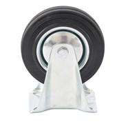 Колесо неповоротное Сибртех, диаметр 125мм, грузоподъемность 100кг, платформенное крепление