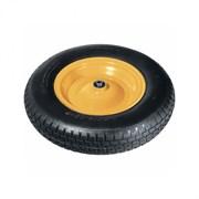 Колесо пневматическое PALISAD с камерой для тачки, 4.8/4.00-8, диаметр 380мм, диаметр внешнего подшипника 12мм, длина оси 90мм