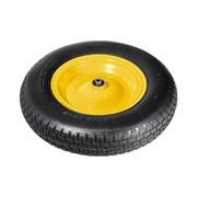 Колесо пневматическое PALISAD с камерой для тачки, 4.80/4.00-8, диаметр 380мм, внутренний диаметр подшипника 20мм, длина оси 90мм