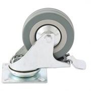 Колесо поворотное Сибртех с тормозом, диаметр 50мм, платформенное крепление