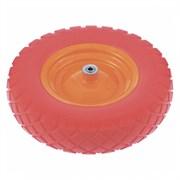 Колесо полиуретановое PALISAD 4.80/4-8, длина оси 90мм, подшипник 12мм