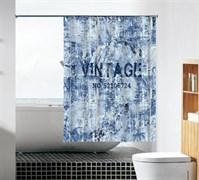 Шторка для ванной комнаты тканевая Винтаж MZ-93, 180x180см, водонепроницаемая