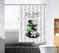 Шторка для ванной комнаты тканевая Духовный мир MZ-96, 180x180см, водонепроницаемая