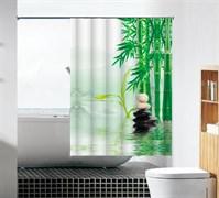 Шторка для ванной комнаты тканевая Стойкость MZ-97, 180x180см, водонепроницаемая