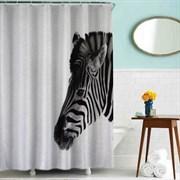 Шторка для ванной комнаты тканевая Зебра MZ-46, 180x200см, водонепроницаемая