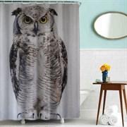 Шторка для ванной комнаты тканевая Сова MZ-50, 180x180см, водонепроницаемая