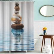 Шторка для ванной комнаты тканевая Гармония MZ-72, 180x200см, водонепроницаемая