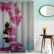 Шторка для ванной комнаты тканевая Процветание MZ-74, 180x180см, водонепроницаемая