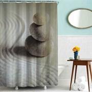 Шторка для ванной комнаты тканевая Просветление MZ-78, 180x200см, водонепроницаемая