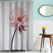 Шторка для ванной комнаты тканевая Лотос MZ-82, 180x200см, водонепроницаемая