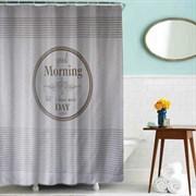 Шторка для ванной комнаты тканевая Доброе утро MZ-87, 180x200см, водонепроницаемая