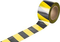 Лента сигнальная оградительная 70ммx200м, желто-черная, рулон