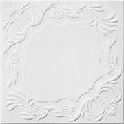 Плитка  потолочная экструзионная Солид С2066, 50x50см, белая, упаковка 8шт. (2м2)