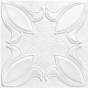 Плитка  потолочная экструзионная Лагом декор Формат 1602, 50x50см, пенополистирол, белая, упаковка 8шт. (2м2)