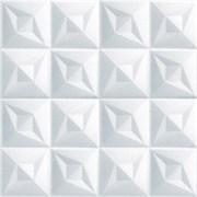 Плитка  потолочная экструзионная Лагом декор Формат 3002, 50x50см, пенополистирол, белая, упаковка 8шт. (2м2)