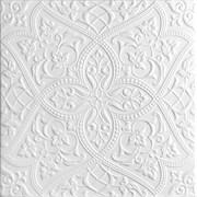 Плитка  потолочная экструзионная Лагом декор Формат 5002, 50x50см, пенополистирол, белая, упаковка 8шт. (2м2)