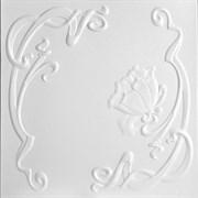 Плитка  потолочная экструзионная Лагом декор Формат 5302, 50x50см, пенополистирол, белая, упаковка 8шт. (2м2)