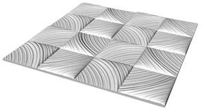 Плитка  потолочная инжекционная Люкс Формат, 50x50см, бесшовная, пенополистирол, Идиллия, белая, упаковка 8шт. (2м2)