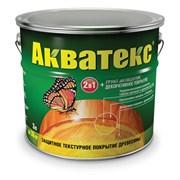 Средство для защиты древесины Акватекс, (защитное покрытие + грунт-антисептик), 3л, текстурное, бесцветное