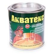 Средство для защиты и тонирования древесины Акватекс, (защитное покрытие + грунт-антисептик), 0.8л, текстурное, ваниль