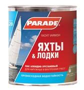 Лак яхтный PARADE алкидно-уретановый, полуматовый, 0.75л