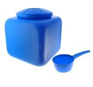 Бак квадратный пищевой М1696, 100л, с крышкой и ковшом, пластиковый, синий