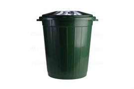 Бак пищевой Б-105, 105л, с крышкой, пластиковый, темно-зеленый