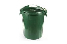Бак пищевой Б-65, 65л, с крышкой, пластиковый, темно-зеленый