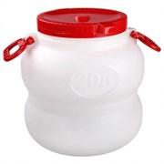 Бочка-канистра пищевая Байкал М6225, 20л, с крышкой и навесными ручками, пластиковая, белая