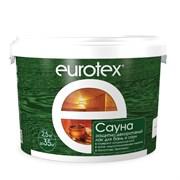 Лак защитно-декоративный для бань и саун Евротекс, 2.5кг, шелковисто-матовый, бесцветный