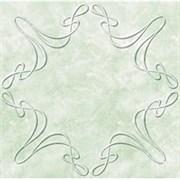 Плитка  потолочная экструзионная Лагом декор Формат 3702, 50x50см, пенополистирол, зеленая, упаковка 8шт. (2м2)