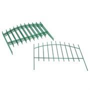Заборчик металлический «Вертикаль» 5 секций (l=4.4п.м., h=87.5см) Зеленый