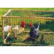 Сетка защитная для птичников Ф-13/1/10, ячейка 13x15мм, пластиковая, зеленая, рулон 1x10м