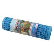 Ограждение (сетка) для детский площадок и игровых зон пластмассовая Ф-24/0.5/8, ячейка 24x24мм, пластиковая, голубое, рулон 0.5x8м