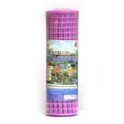 Ограждение (сетка) для детский площадок и игровых зон пластмассовая Ф-24/0.5/8, ячейка 24x24мм, пластиковая, розовое, рулон 0.5x8м