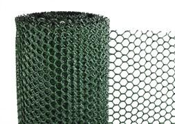 Сетка-решетка садовая Ф-7/0.4/10, ячейка 7x7мм, пластиковая, хаки, рулон 0.4x10м