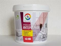 Краска Bono Vernice вододисперсионная акриловая, интерьерная, для стен и потолков, матовая, супербелая, 3кг