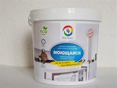 Краска Bono Vernice вододисперсионная акриловая, моющаяся, для стен и потолков, супербелая, 3кг
