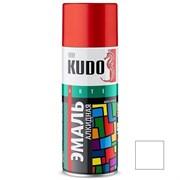 Краска-эмаль аэрозольная KU-1001 универсальная, алкидная, глянцевая, белая, 520мл
