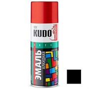 Краска-эмаль аэрозольная KU-1002 универсальная, алкидная, глянцевая, черная, 520мл