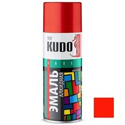 Краска-эмаль аэрозольная KU-1003 универсальная, алкидная, глянцевая, красная, 520мл