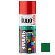 Краска-эмаль аэрозольная KU-1007 универсальная, алкидная, глянцевая, темно-зеленая, 520мл