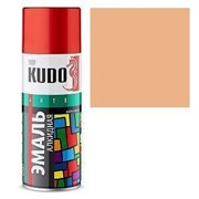 Краска-эмаль аэрозольная KU-10091 универсальная, алкидная, глянцевая, кремовая, 520мл