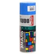 Краска-эмаль аэрозольная KU-1010 универсальная, алкидная, глянцевая, голубая, 520мл