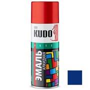 Краска-эмаль аэрозольная KU-1011 универсальная, алкидная, глянцевая, синяя, 520мл